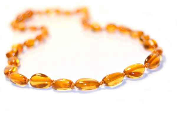 Cognac bean necklace